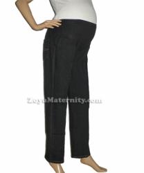 large Jeans Hamil C1091 hitam samping
